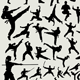 100+ Martial Arts Silhouette - GraphicRiver Item for Sale