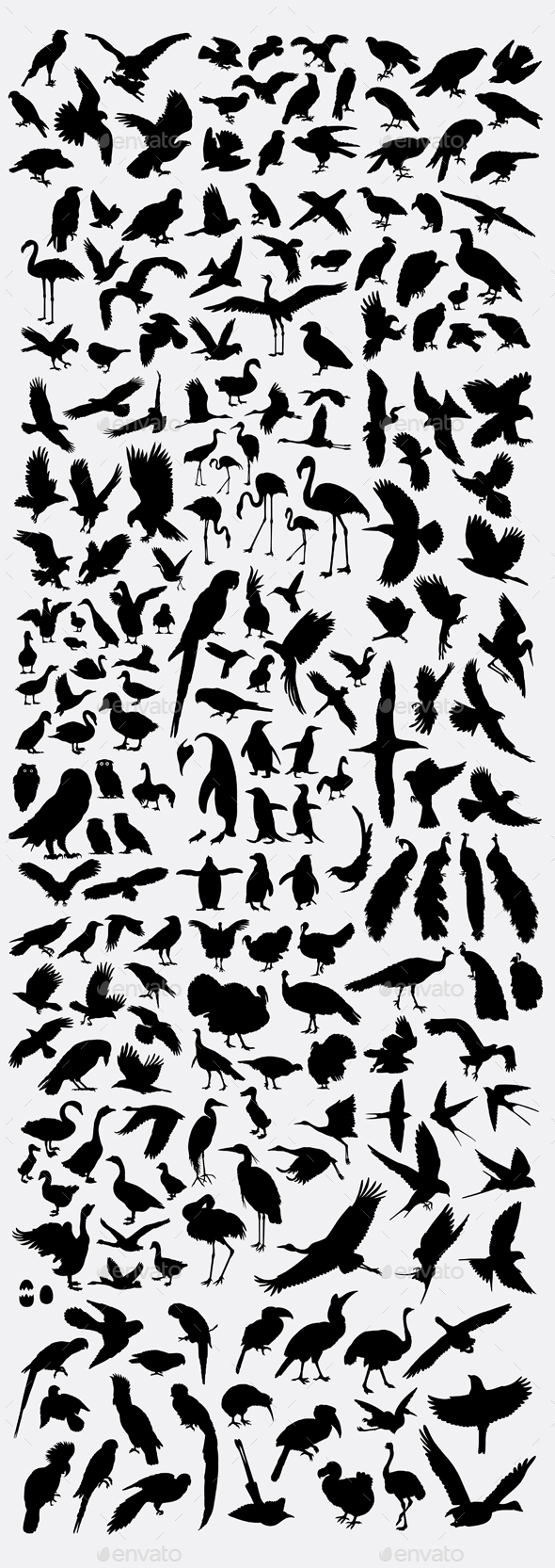 100+ Birds Silhouette - Animals Characters