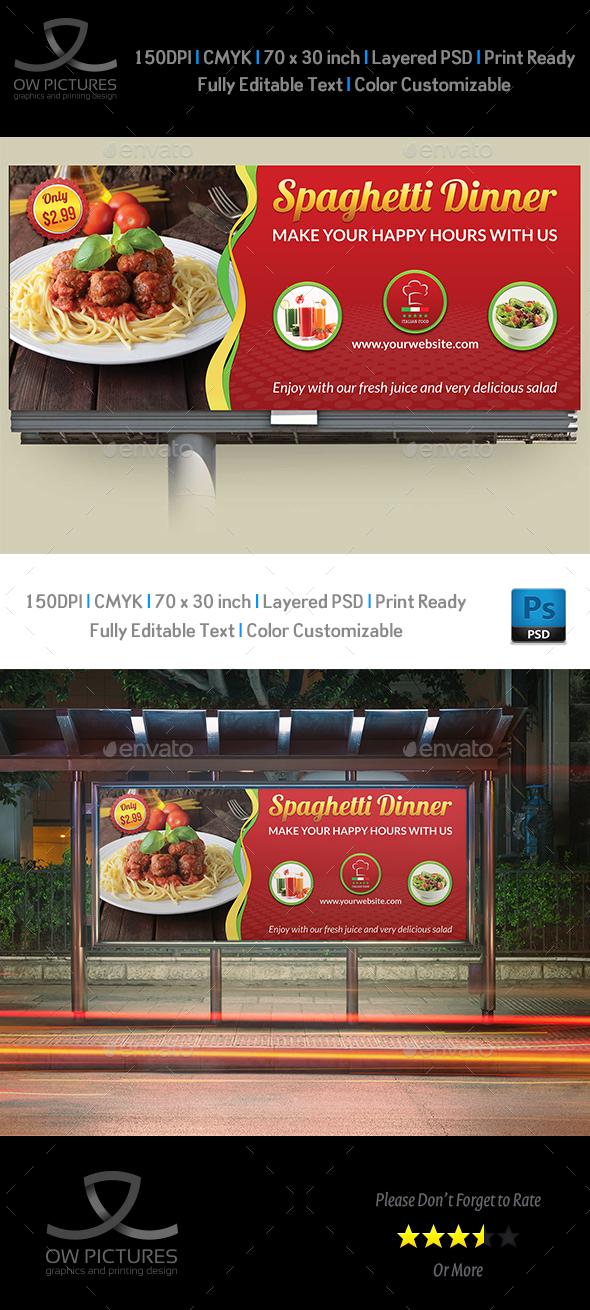 Restaurant Billboard Vol.8 - Signage Print Templates