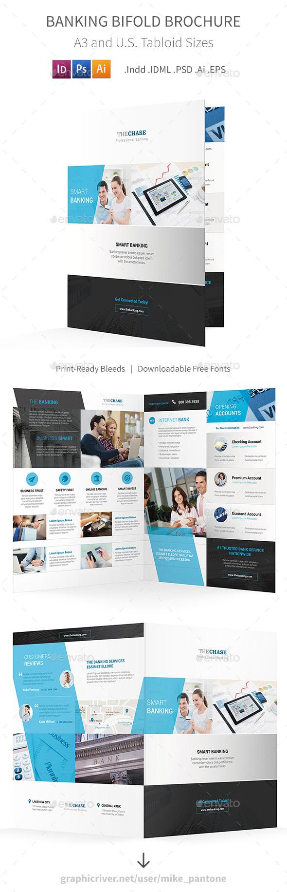 Banking Bifold / Halffold Brochure - Corporate Brochures