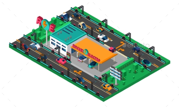 Futuristic Isometric Concept - Abstract Conceptual