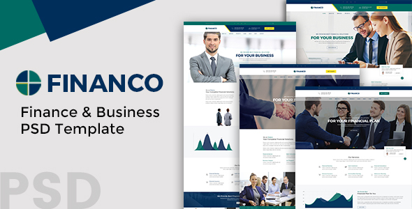 Financo – Finance and Buisness PSD Template