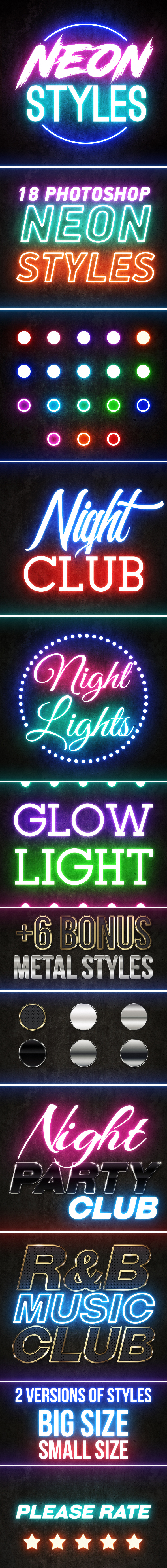 Photoshop Neon Styles - Text Effects Styles