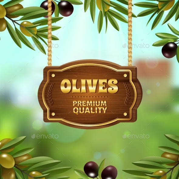 Premium Quality Olives Background - Organic Objects Objects