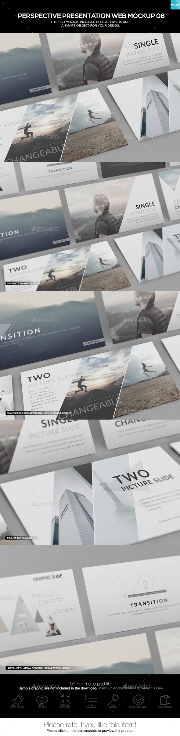 Perspective Presentation Web Mockup 06 - Website Displays