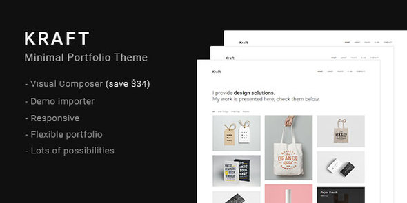 Kraft – Minimal Portfolio WordPress Theme