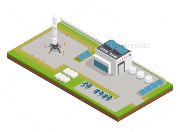 Space Isometric Composition - Objects Vectors