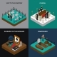 Funeral Isometric Concept - GraphicRiver Item for Sale