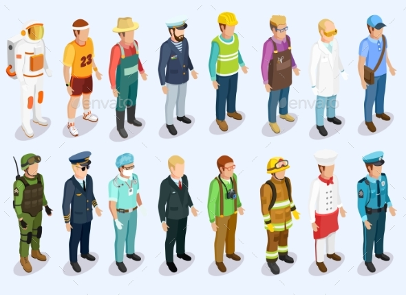 Person Isometric Collection - Abstract Conceptual