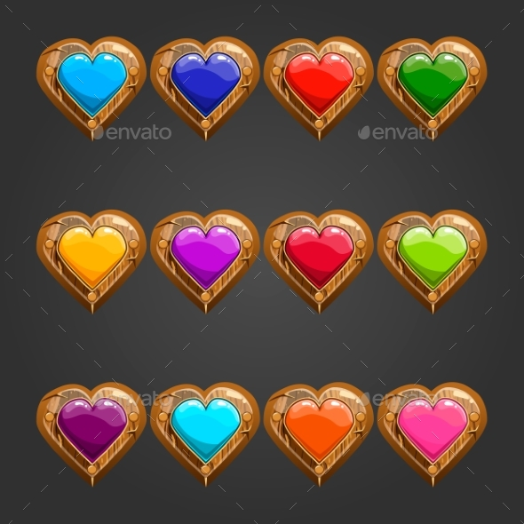 Big Set with Wooden Heart - Web Technology
