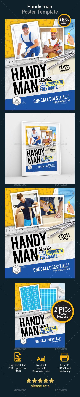 Poster Template - Handy Man Service - Print Templates