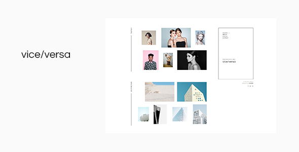 Viceversa – Minimal Photography and Portfolio WordPress Theme