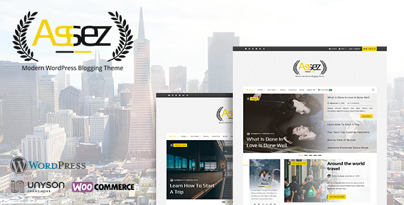 Assez | Modern WordPress Blogging Theme
