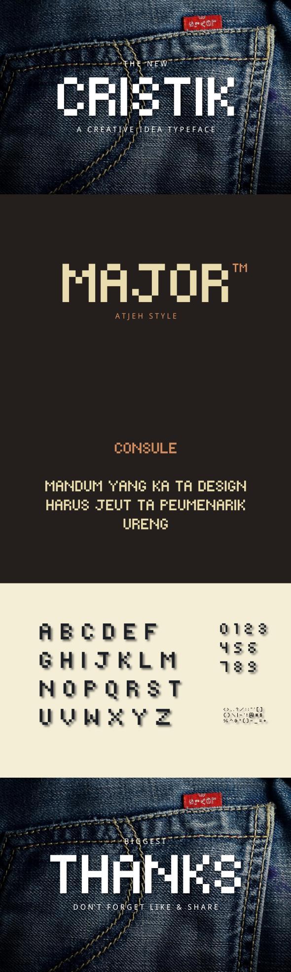 Cristik | A Creative Type - Sans-Serif Fonts