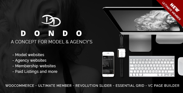 DONDO Model & Agency Portfolio WP Theme