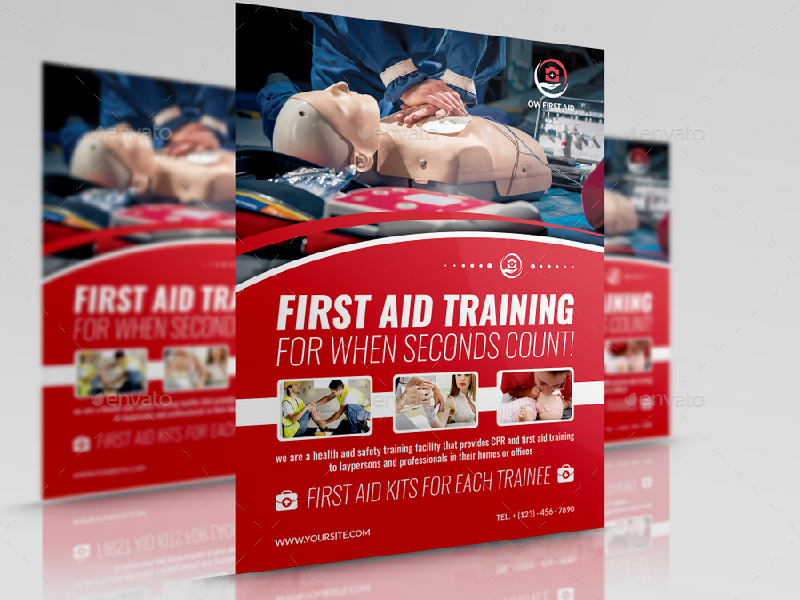 first aid flyer template by owpictures graphicriver first aid flyer template maxwellsz