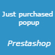 Just Purchased Popup - Prestashop Module