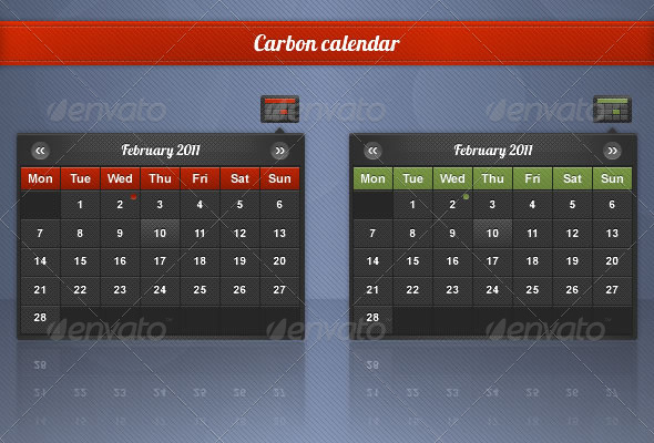 Carbon Date Picker - Miscellaneous Web Elements