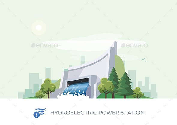 Hydroelectric Water Power Station - Man-made Objects Objects