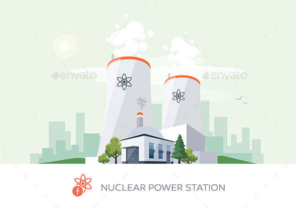 Nuclear Power Plant - Man-made Objects Objects