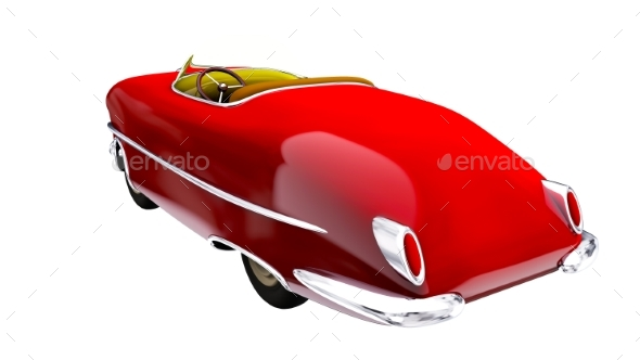 Toy Red Car. 3D Render - Objects 3D Renders