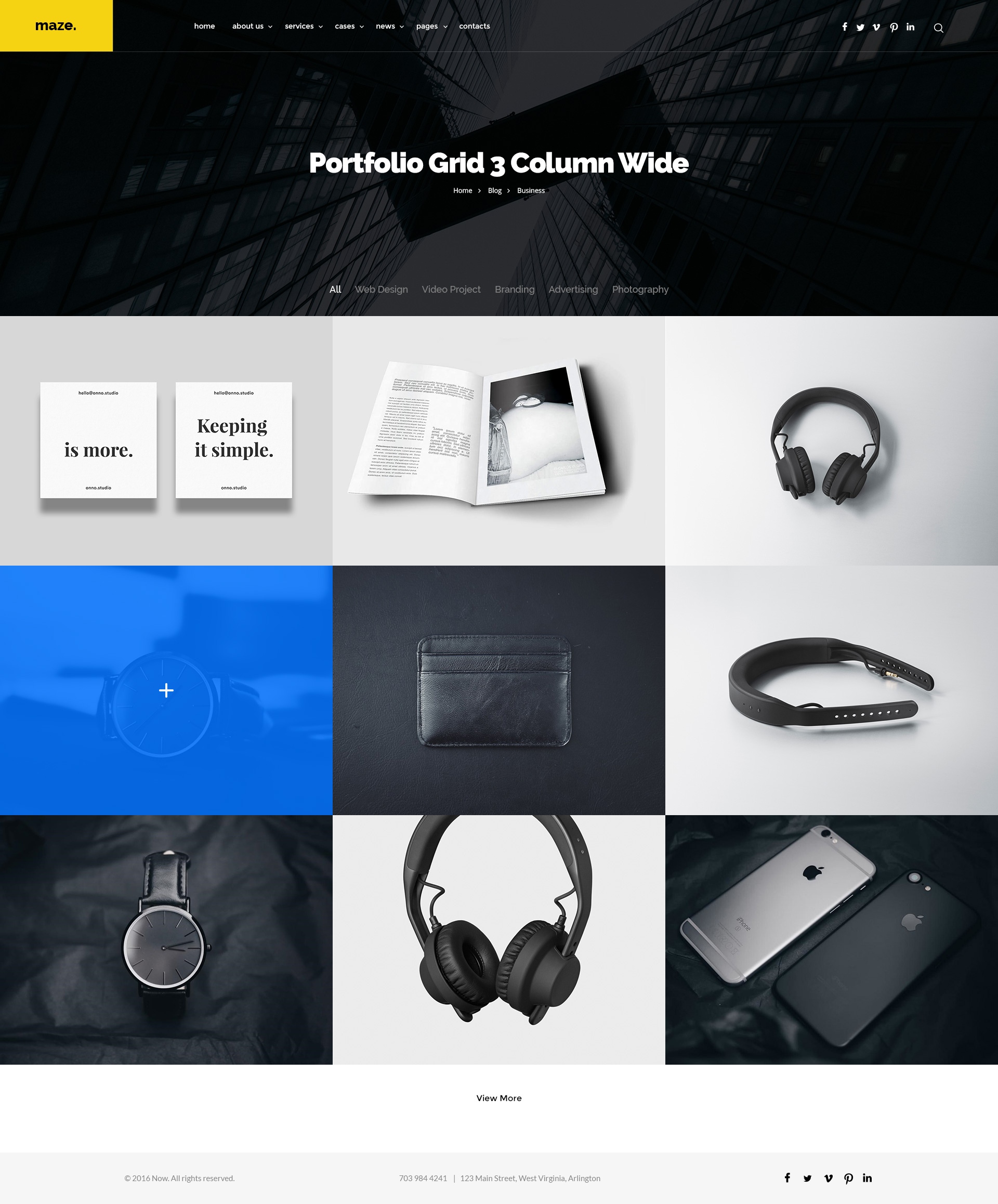 Multi-Purpose Maze Template - Creative Multi-Purpose PSD Template by ...