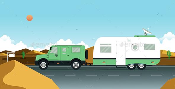 Caravan - Travel Conceptual