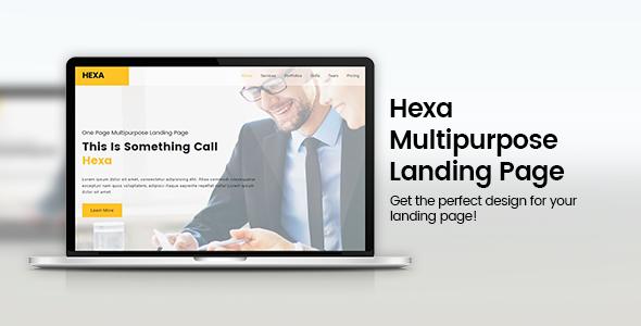 Hexa - Responsive Multipurpose Landing Page - Landing Pages Marketing