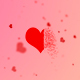 Valentines Hearts BG & Particle Heart Reveal - VideoHive Item for Sale