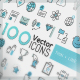 400 Thin Line Icons - GraphicRiver Item for Sale