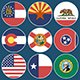 Flat Flag Icons US States - GraphicRiver Item for Sale