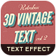 Retro Text Effect vol 2 - GraphicRiver Item for Sale