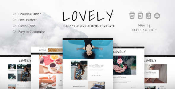 Lovely – Elegant & Simple Blog HTML Template