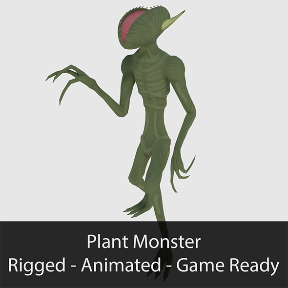 Plant Monster - Game Ready - 3DOcean Item for Sale