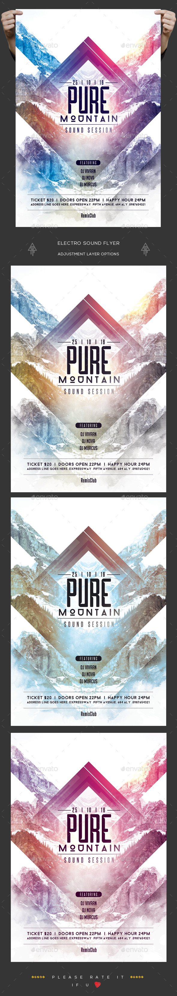Pure Sound Session Flyer - Clubs & Parties Events