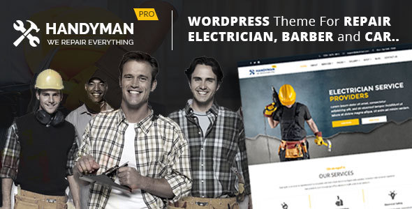 Electrician, Repair, Barber, Carpenter  -  Theme for Electrician, Barber, Carpenter, Repair Busines