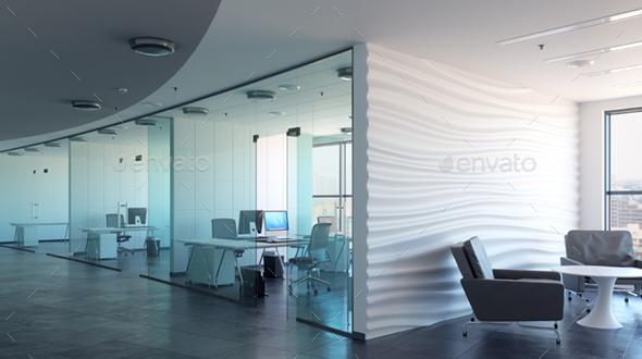 3d Rendering Office iInterior - Architecture 3D Renders