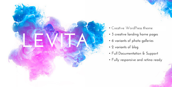 Photography Levita | Creative Photography Portfolio and Blog WordPress Theme