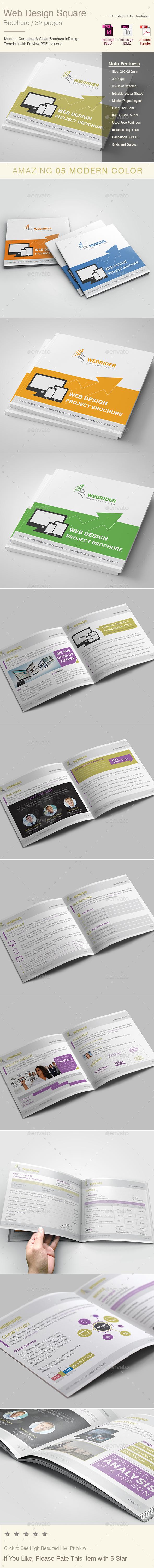 Web Design Square  Brochure Templates - Corporate Brochures