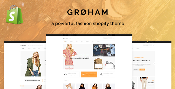 Groham – Fashion eCommerce Shopify Theme