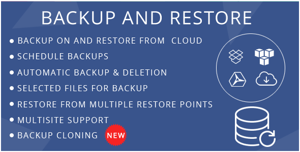 Backup And Restore - CodeCanyon Item for Sale