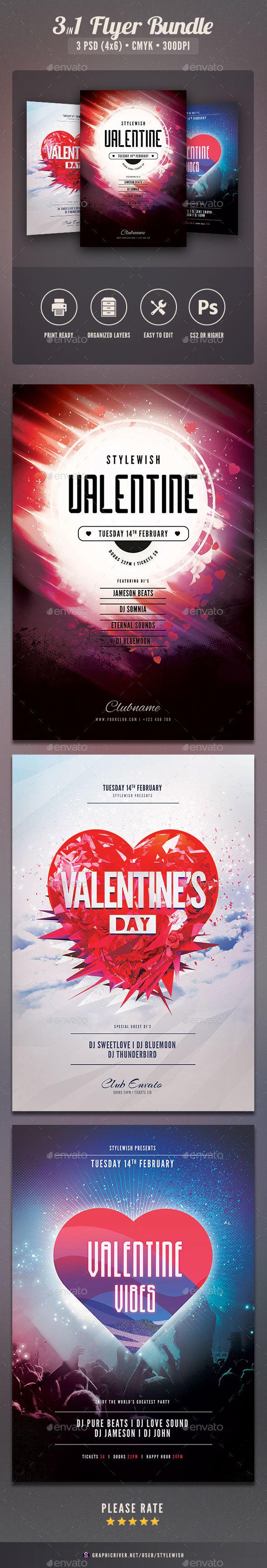 Valentine Flyer Bundle Vol.04 - Clubs & Parties Events