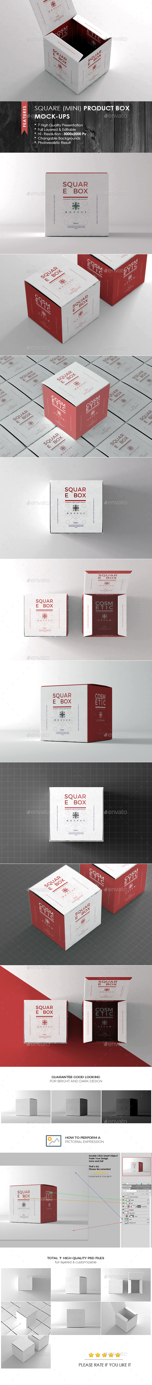 Square Box Mock-up - Packaging Product Mock-Ups
