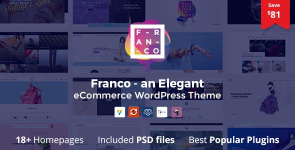 Franco - Elegant WooCommerce WordPress Theme - WooCommerce eCommerce