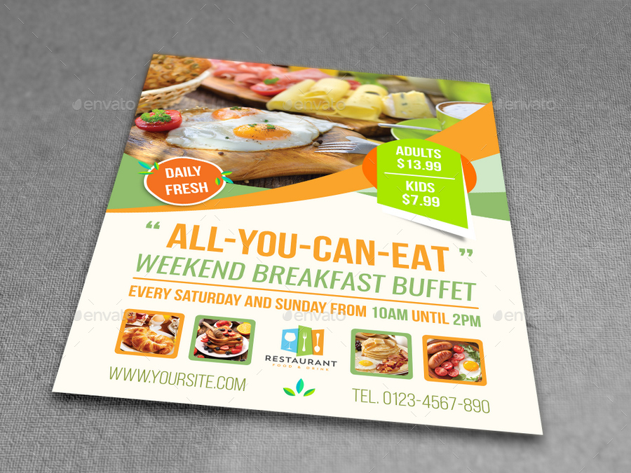 Breakfast Restaurant Flyer Template Vol2 By Owpictures Graphicriver