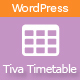 Tiva Timetable For Wordpress - CodeCanyon Item for Sale