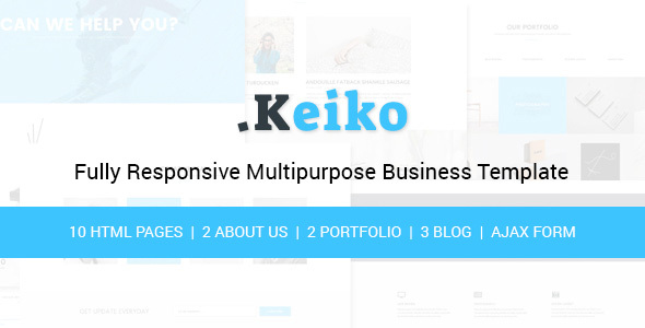 Keiko – Multipurpose Business HTML Template