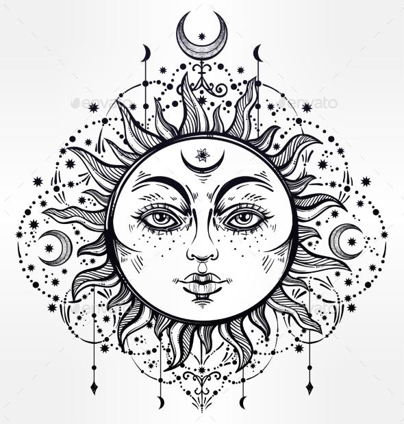 Boho Sun - Decorative Symbols Decorative