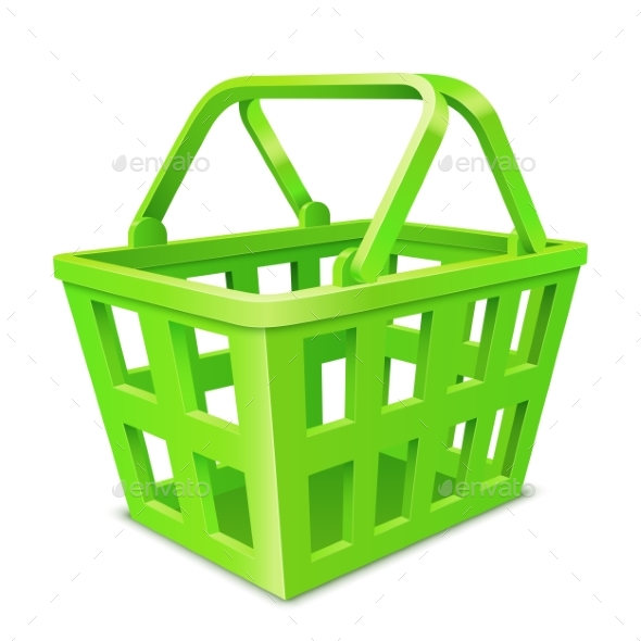 Green Shopping Basket - Retail Commercial / Shopping
