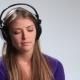 Enjoying Her Favorite Music in Earphones - VideoHive Item for Sale
